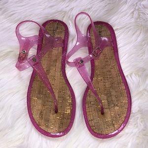 kate spade pink jelly sandal